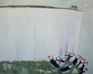Cliff 2014, painting by Neil Cuthbert