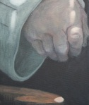 Painting of uniform study and right hand