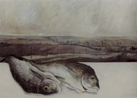 Fish in Landscape - oil on canvas 46 x 61 cm 2004