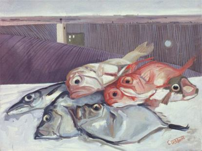 Like a Fish out of Water - oil on canvas 46 x 61 cm 2004